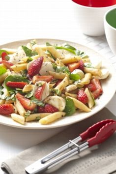 Chilled Strawberry Pasta Salad