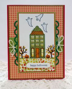 Stampin' Up! Holiday Home handmade Halloween card