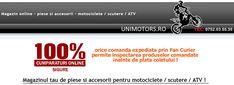 Facebook magazin online Unimotors Romania, din Valcea, Rm Valcea. Acesta va ofera cele mai bune piese originale, perfect compatibile cu majoritatea brandurilor de motociclete, scutere si ATV-uri.