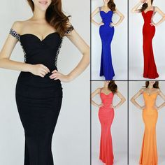 Noble Sexy Long Bridesmaid Dress Evening Gowns Prom Dresses Formal Party Sequins