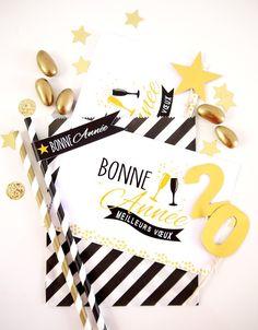 Nouvel An Kit de Fête Printable Noir & Doré