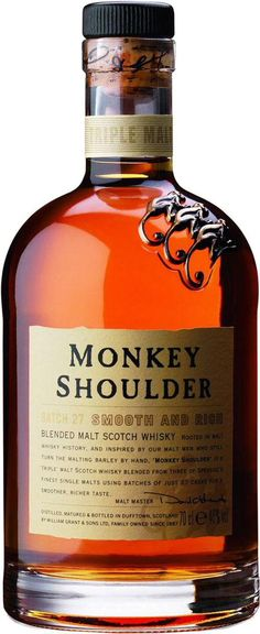 Monkey Shoulder is a throw-back to a time when Vatted Single-Malt Scotch was a thing. Don't mistake this for a Blended Scotch that includes Corn, this is all malt in the mash, from 4 seperate distilleries. The result is a complicated flavor.