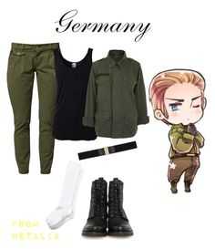 """Hetalia - Germany"" by anime-couture ❤ liked on Polyvore featuring Vero Moda, Topshop, Frye, H&M and Nordstrom"