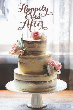 wedding cake,semi naked wedding cake,naked wedding cake,wedding cake with gold details