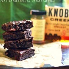 very chocolatey, fudgy, brownies with a nice bourbon flavor