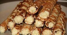 Вафельные трубочки - хрустящие с заварным кремом. | Шедевры кулинарии