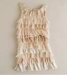 Ruffle Jersey Dress - Perfect for vintage flower girl dress.