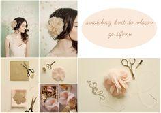 Jednoduchý návod na ozdobu do vlasov pre všetky šikovné nevesty či družičky, zdroj: bridalmusings.com/2011/11/buy-or-diy-chiffon-organzahair-flowers/