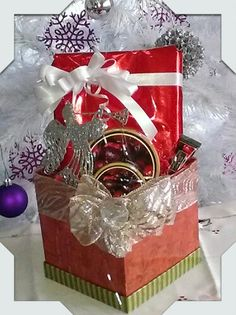 Christmas Gift Basket made by Norma's Unique Gift Baskets.$50.00