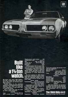 1969 Oldsmobile 4-4-2 Two Door Hardtop