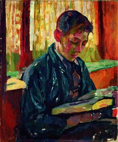Alberto Reading by Giovanni Giacometti ca. 1915