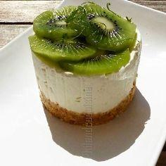 Cheesecake citron vert et kiwi, sans cuisson et sans gélifiant