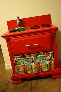 Who knew that I had a secret wish for a red kitchen?  All the cool kids have one.