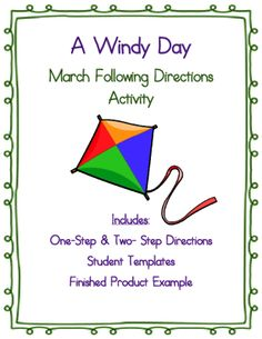 Following Directions Activity: A Windy Day Scene from JennyMonique from JennyMonique on TeachersNotebook.com (4 pages)  - Practice following oral and written directions with this fun craftivity!