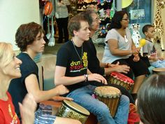 Drumming with patients, families & Staff at Levine Children's Hospital