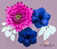 Paper Flower Backdrop Paper Flowers Giant Paper by APaperEvent