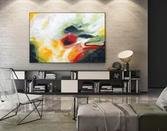 Large Modern Wall Art Painting,Large Abstract Painting on Canvas,huge canvas art,huge canvas painting,home decor wall art Oversized Canvas Art, Large Canvas Art, Abstract Canvas Art, Acrylic Painting Canvas, Canvas Paintings, Painting Abstract, Acrylic Art, Painting Art, Wall Canvas