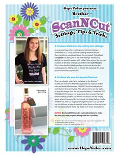 Brother ScnNCut Settings Tips & Tricks Book