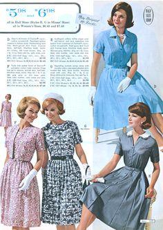 1960s Dresses, Vintage Style Dresses, Vintage Skirt, Nice Dresses, Vintage Outfits, 60s And 70s Fashion, Retro Fashion, Vintage Fashion, Vintage Wardrobe