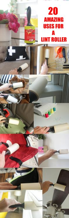 You'll be so shocked to see all the ways you can use a lint roller! #ad #StickItToLint