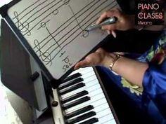 Curso de piano, lección 3, leer partitura en el piano