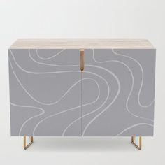 Ebb and Flow 2 - Grey Credenza by laec | Society6 Ebb, Black Interior, Wood Finish, Furniture, Interior, Bedroom Set, Credenza, Home Decor, Office Cabinets