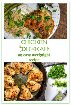 Dukkah is an Egyptian spice and nut blend, but what it does to the flavor of your weeknight chicken will astound you! This recipe for Chicken might just become your brand new family favorite! #chicken #dukkah #chickendukkah #recipe #Egyptian #weeknightrecipe