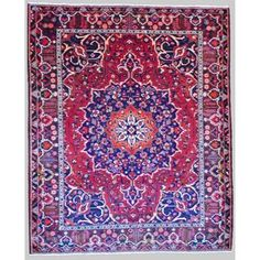 Herat Oriental Persian Hand-knotted Tribal Bakhtiari Red/ Burgundy Wool Rug (10'3 x 12'4)   Overstock.com Shopping - The Best Deals on 7x9 - 10x14 Rugs