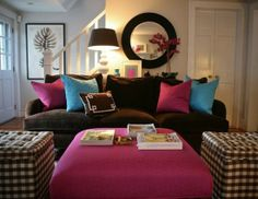Eileen Kathryn Boyd Interiors — colors for the living room Condo Living, Apartment Living, Living Room Decor, Living Spaces, Living Rooms, Room Color Schemes, Room Colors, House Colors, Leather Living Room Furniture