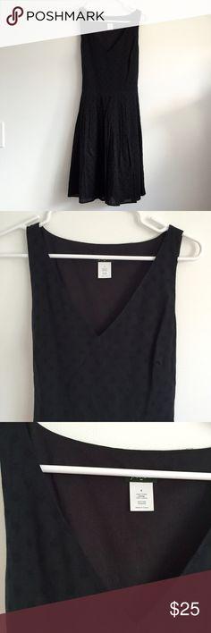 Jcrew Black Polka Dot Dress Jcrew Black Polka Dot Dress, size 6. Worn once and in excellent condition. J. Crew Dresses