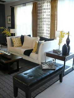 Playing it safe - but still a space that worked with neutral base + pops of yellow (2008)