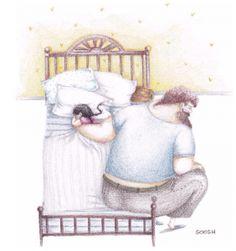 A volte si addormenta aggrappandosi alla mia mano , io non la tolgo. Quelle notti la mia schiena fa male , ma il mio cuore è in fiore.