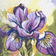 Iris photo stitch free embroidery design 3 - Photo stitch embroidery designs - Machine embroidery community