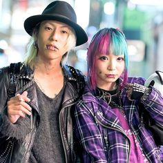 "Harajuku Japan on Instagram: ""Closeup of @666die_fall666 and @MorinoApple on the street in Harajuku last night!"""