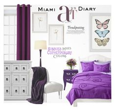 """""""Purple Home Decor"""" by eso-so ❤ liked on Polyvore featuring interior, interiors, interior design, home, home decor, interior decorating, Canvas Home, Sun Zero, McGuire and Nearly Natural"""