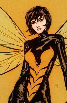 "comic-book-ladies: "" Wasp by Marcio Takara "" Marvel Ms Marvel, Marvel Comics Art, Marvel Women, Marvel Girls, Comics Girls, Marvel Heroes, Marvel Avengers, Comic Book Characters, Marvel Characters"