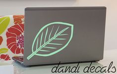 Leaf vinyl  decal sticker , garden and nature decor, plant eco greenery