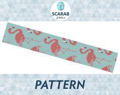 Loom Bead Pattern: Flamingos Bracelet / Cuff by ScarabJewels
