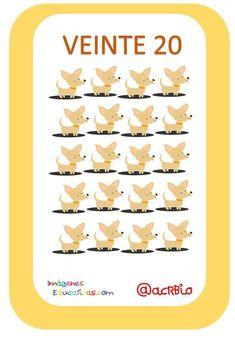 Tarjetas Números Perritos Imagenes Educativas (20) Card Games, Doggies, Classroom, Learning, Entryway, Manualidades
