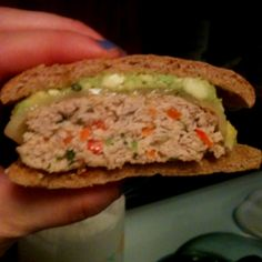 Cilantro Lime Chicken Burger I made!!!!