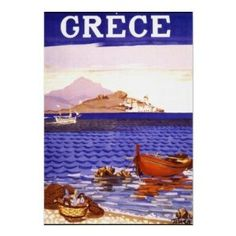 Amazon.com: Greece Vintage Travel Poster: Home & Kitchen