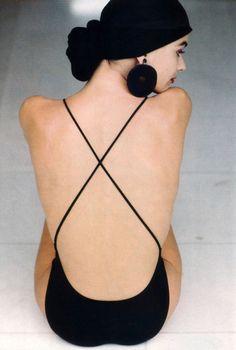 Anne Klein, American Vogue, March 1988. Photograph by Arthur Elgort. Model: Paulina Porizkova.