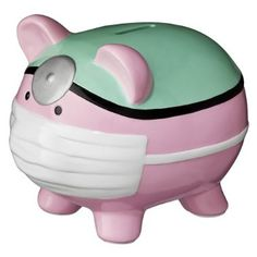 Nurse Piggy Bank. My favourite piggy bank: http://www.helpmetosave.com/2012/02/piggy-bank/