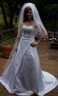 2009 Michaelangelo Designer Wedding Gown and Accessories (David's Bridal) Free Shipping $890.00