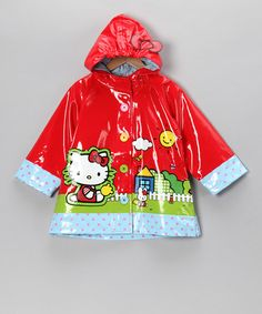 Take a look at this Red Hello Kitty Raincoat - Toddler by Hello Kitty on #zulily today!