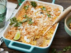 Spicy Creamed Corn Crumble recipe from Food Network Kitchen via Food Network
