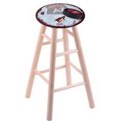 "Holland Bar Stool NHL 24"" Bar Stool with Cushion Finish: Natural, NHL Team: Arizona Coyotes"