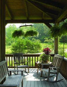 I want this one day. A huge wrap around porch with a beautiful view.