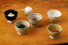 Azmaya Clay Dishes. Size: φ99 x H70mm / Green: AZKB31702. Gray: AZKB31709. Blue Stripe: AZKB31711. White: AZKB31701. Black: AZKB31703