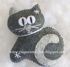 – My Life Spot Cat Crafts, Animal Crafts, Fabric Crafts, Sewing Crafts, Felt Gifts, Felt Decorations, Felt Cat, Felt Patterns, Felt Christmas Ornaments